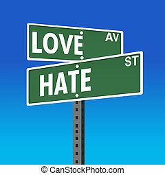 Road Sign- Love-Hate - International Day for the Elimination...