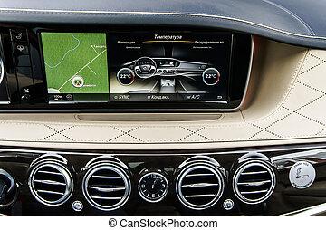 Luxury car interior details