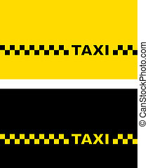 yellow and black taxi card - set with yellow and black taxi...
