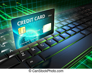 Online payments - A credit card as an on-line payment tool...