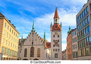 Munich, Old Town Hall with Tower, Bavaria, Germany