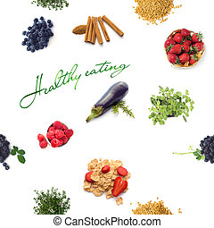 Fruits and veggies Seamless background