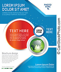 Flyer design or business presentation - Illustration for...