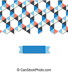 abstract background banner of triangles - abstract geometric...