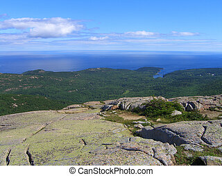 Acadia National Park Panorama of Frenchman Bay, Maine, USA