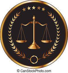 ley, o, capa, sello