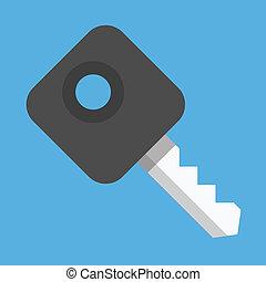 Vector Car Key Icon
