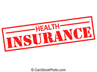HEALTH INSURANCE red Rubber Stamp over a white background.