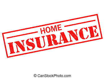 HOME INSURANCE red Rubber Stamp over a white background