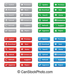 Web buttons in various colors