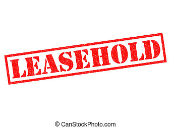 LEASEHOLD red Rubber Stamp over a white background.