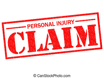 PERSONAL INJURY CLAIM red Rubber Stamp over a white...