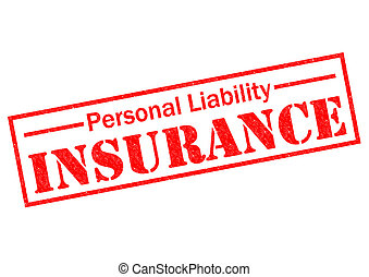 PERSONAL LIABILITY INSURANCE red Rubber Stamp over a white...