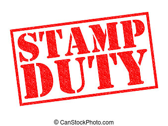 STAMP DUTY red Rubber Stamp over a white background.