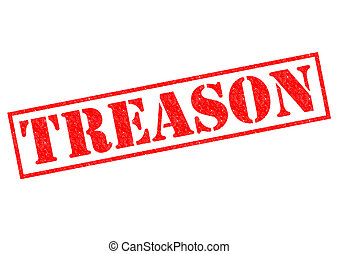 TREASON red Rubber Stamp over a white background