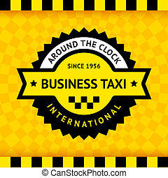 Taxi symbol with checkered background - 03