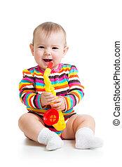 嬰孩, 玩具, 玩, 音樂