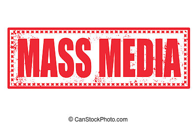 mass media stamp - mass media grunge stamp with on vector...