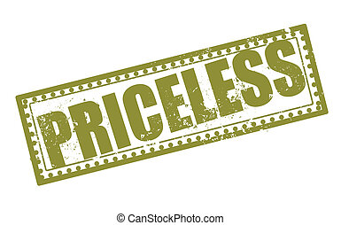 priceless stamp - priceless grunge stamp with on vector...