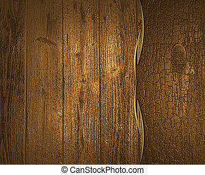Background of gold and old wood planks. Design template