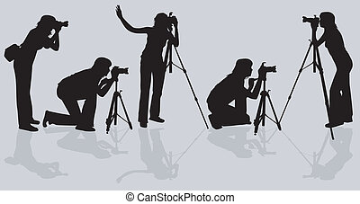 Photographers shooting model