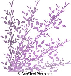 floral purple background