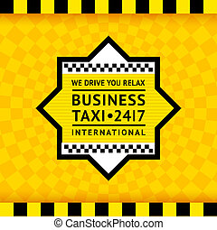 Taxi symbol with checkered background - 13