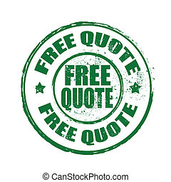 free quote stamp - free quote grunge stamp whit on vector...
