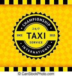 Taxi symbol with checkered background - 15, vector...