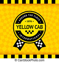 Taxi symbol with checkered background - 14