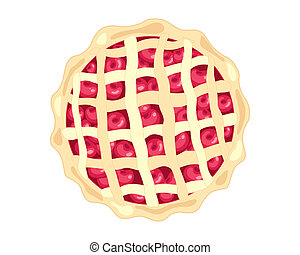 american cherry pie - an illustration of an american style...