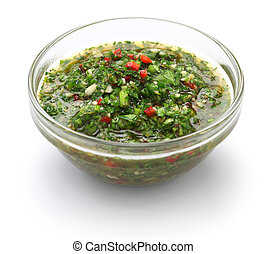 chimichurri sauce, traditional Arge - chimichurri is made...