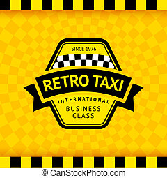 Taxi symbol with checkered background - 17, vector...