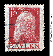 Bayern stamp 1911 - Postage stamp printed by Germany 1911...