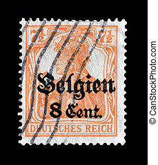 Occupation of Belgium stamp - Postage stamp printed by...