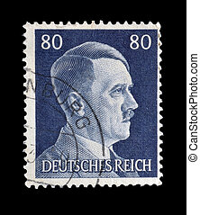 Adolph Hitler stamp 1941 - Postage stamp printed by Germany...