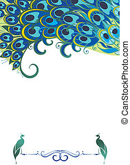 Peacock pattern background - Abstract background