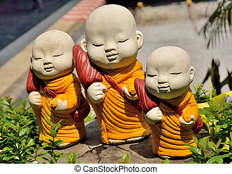 sculptures monk thai - Photos, sculptures, children,...
