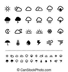 Retina weather icon set Illustration eps10