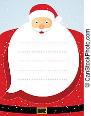 Santa claus christmas card.
