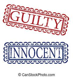 guilty innocent stamp