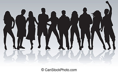 Young people - black profile