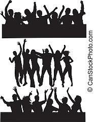 Dancing group people 2