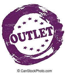 Outlet - Stamp with word outlet inside,vector illustration