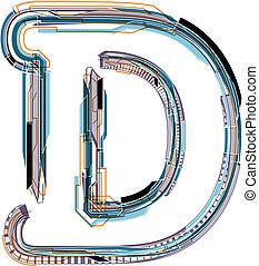 Font illustration LETTER D
