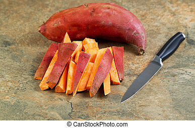 Fresh Yams for Cooking