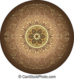 Ornamental round pattern for paisley , circle background with