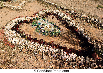 Stone Heart of Sundad Arizona - A stone heart created from...
