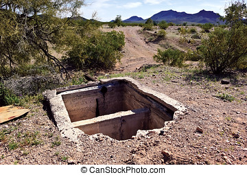 Sundad Septic Tank - The remains of an old septic tank in...