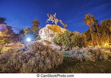 San Martin Square in Mendoza, Argentina. - San Martin...
